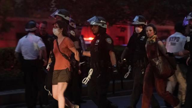 Demonstrators protest against the death in Minneapolis police custody of George Floyd, in New York City