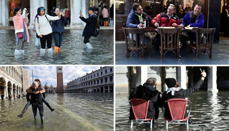 Poplave u Veneciji: Najgore tek dolazi, a oni okidaju 'selfije'
