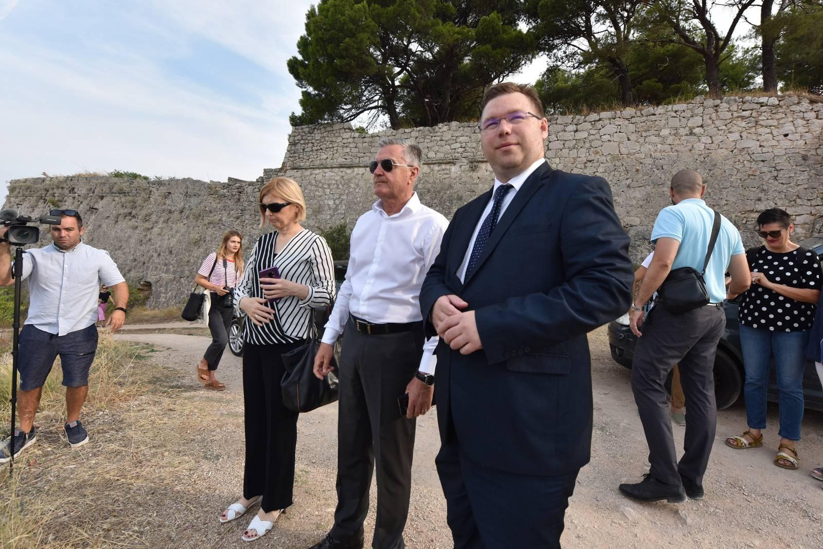 Šibenik: Ministar Marko Pavić obišao radove na tvrđavi sv. Ivana