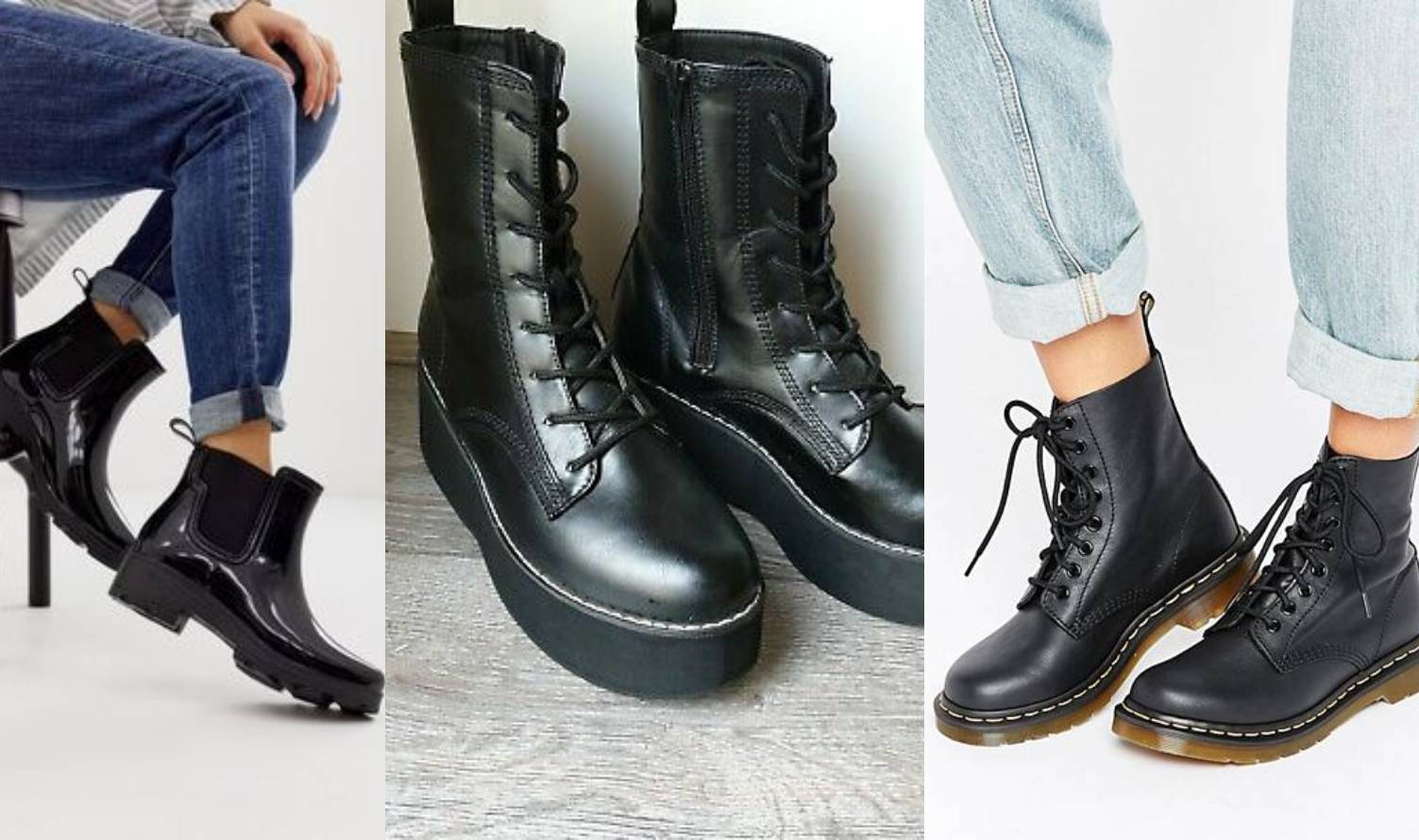 Stilski favorit 2020.: Poluvisoke crne čizme glomaznog dizajna