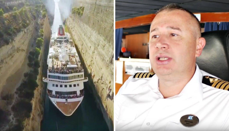 Kapetan Glavić prolaskom kroz Korintski kanal srušio rekord