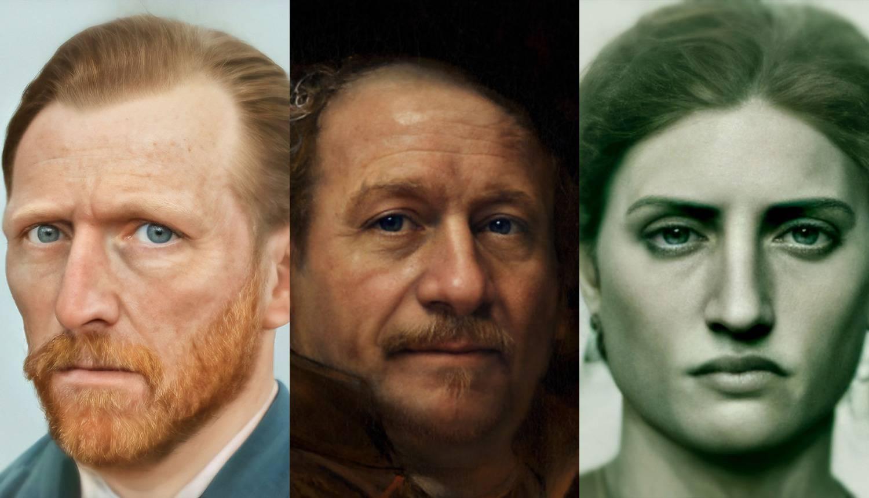 Umjetnik 'oživio' poznate poput Rembrandta, Napoleona, Gogha