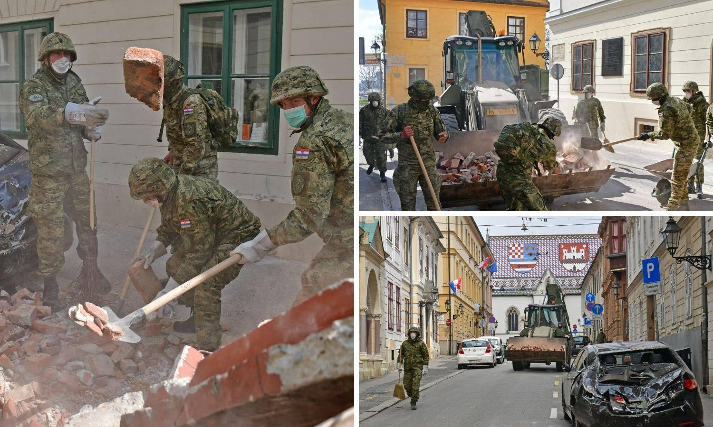 Vojska sanira ulice Zagreba već drugi dan: 'Dajete nam snagu!'