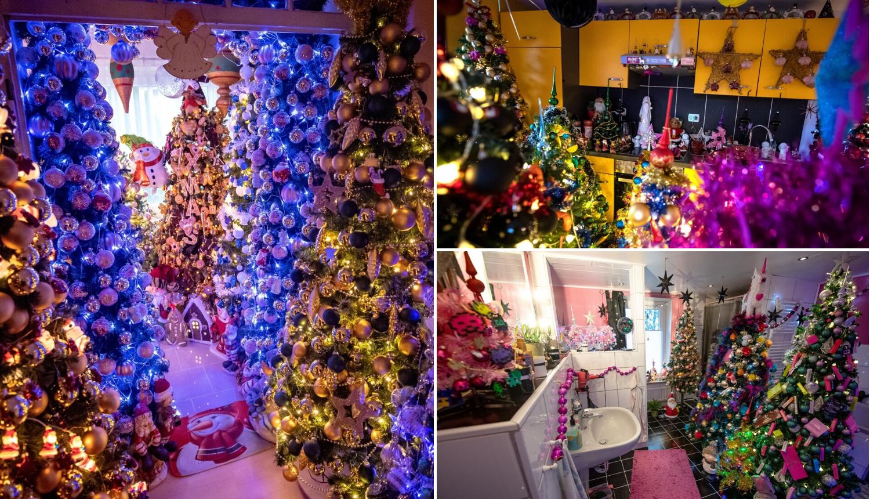 Božićno ludilo: Ukrasili su dom s 350 borova i 10.000 kuglica