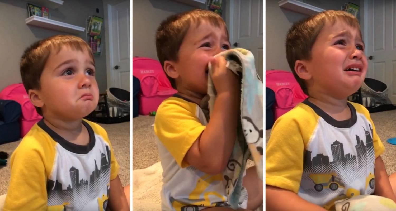 Dječak se rasplakao na crtić