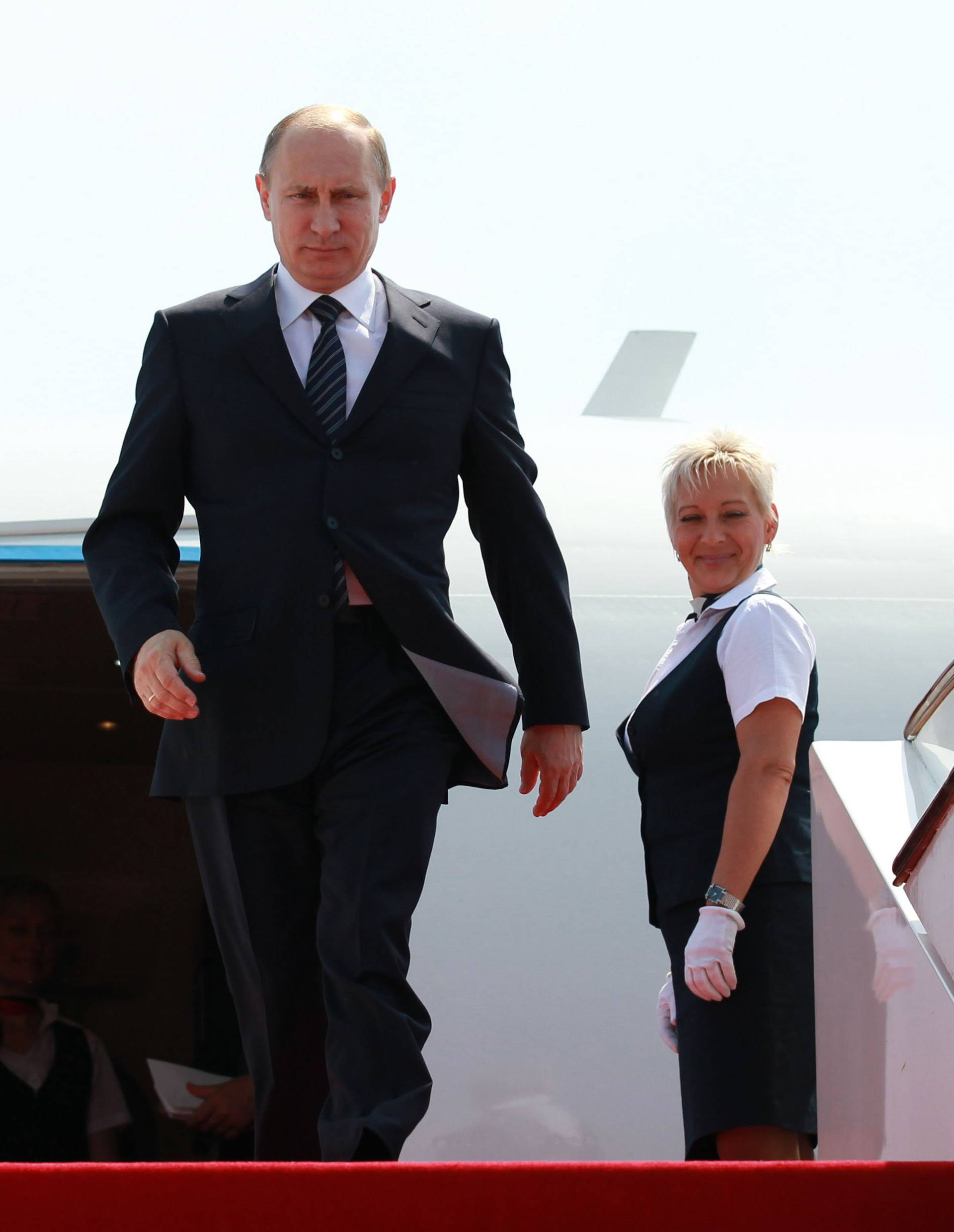 Putin Arriving In China