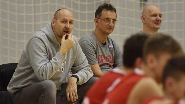 Čista Velika: Kontrolni trening kadetske košarkaške reprezentacije Hrvatske