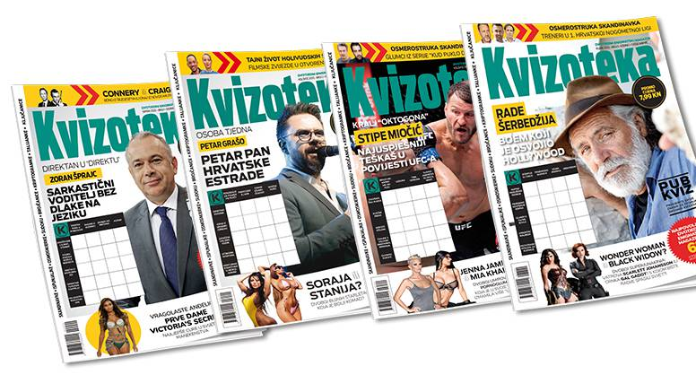 Kvizoteka - najpovoljniji dvotjedni enigmatski magazin po promo cijeni od samo 7,99 kn