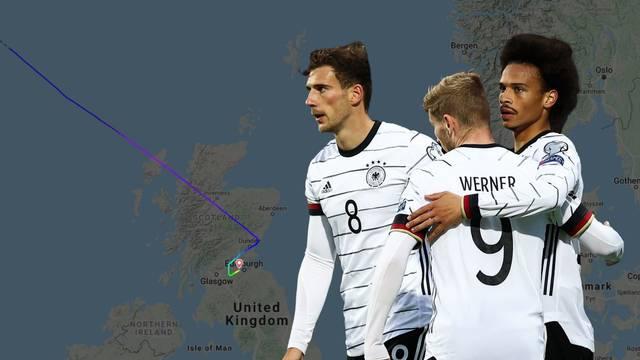 Avion njemačke reprezentacije morao hitno sletjeti u Škotskoj