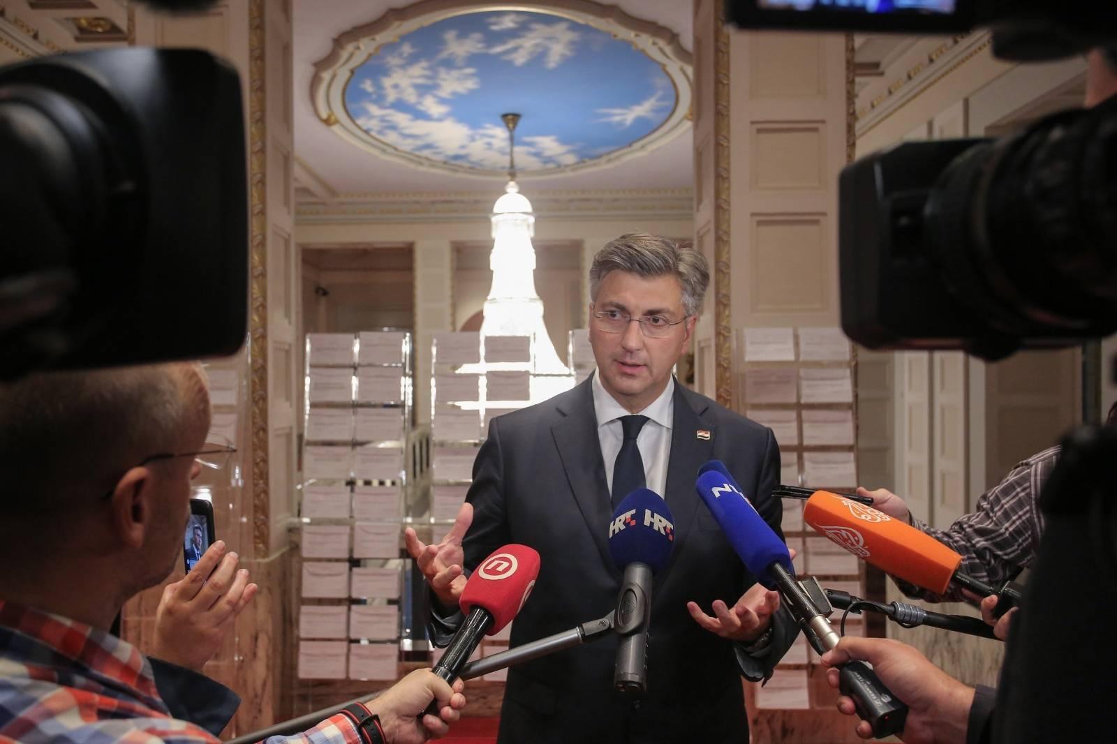 Zagreb: Izjava Andreja Plenkovića o izglasavanju nepovjerenja Milanu Kujundžiću