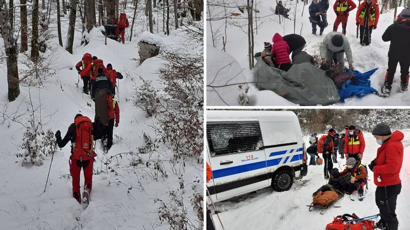Migranti pobjegli u Sloveniju pa zapeli u snijegu, spasio ih GSS