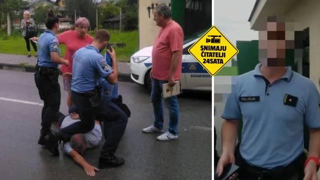 VIDEO Ovako su policajci hapsili heroja koji je spasio Trnje: 'Maknite mu nogu s vrata!'