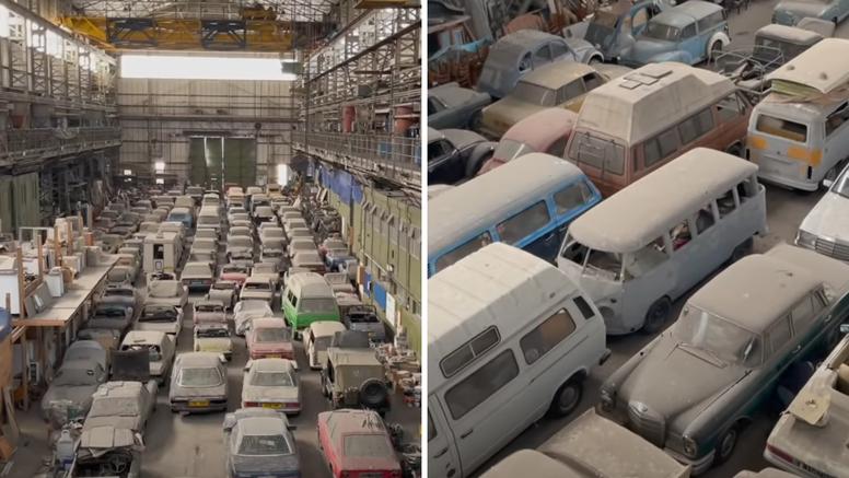 Kakav ulov: U napuštenoj hali u Londonu pronašli 175 starih automobila, svi idu na aukciju