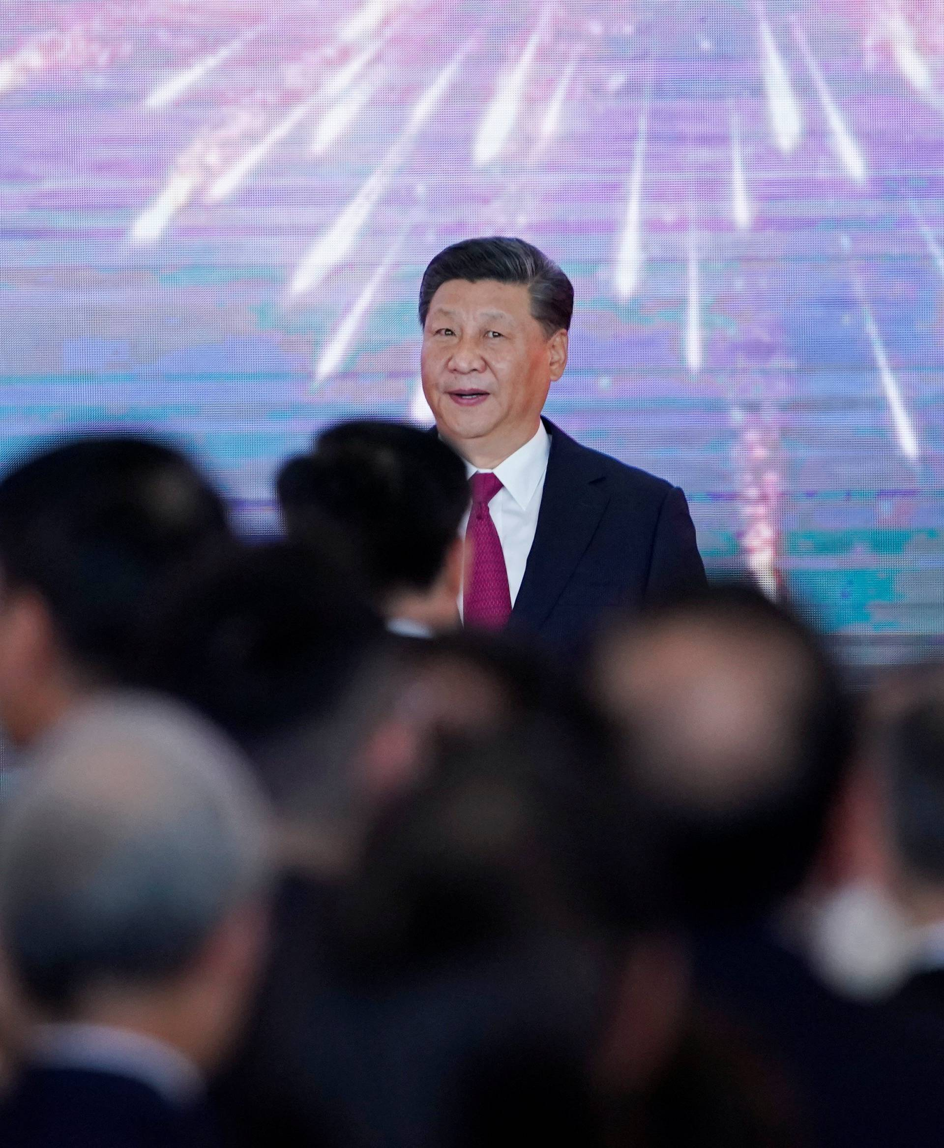 Chinese President Xi attends the opening ceremony of the Hong Kong-Zhuhai-Macau bridge in Zhuhai
