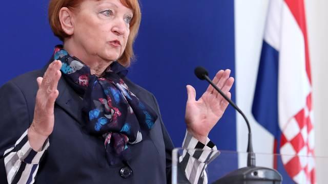 Zagreb: Kandidatkinja za glavnu drzavnu odvjetnicu Zlata Hrvoj Sipek dala izjavu medijima
