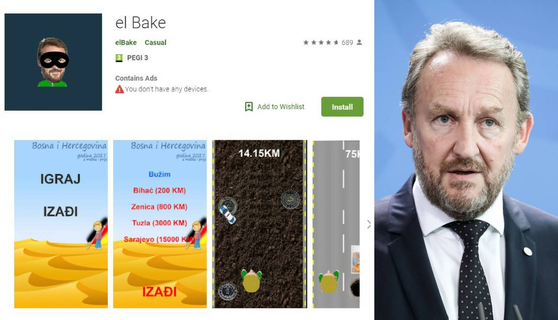 Izetbegović 'El Bake' u video igrici skuplja novac po Bosni