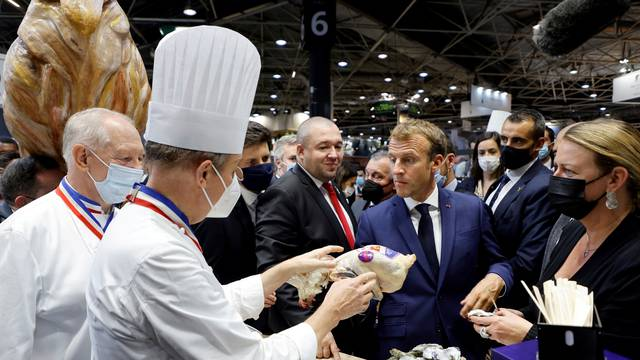 French President Macron visits the International Catering, Hotel and Food Trade Fair (SIRHA) in Lyon
