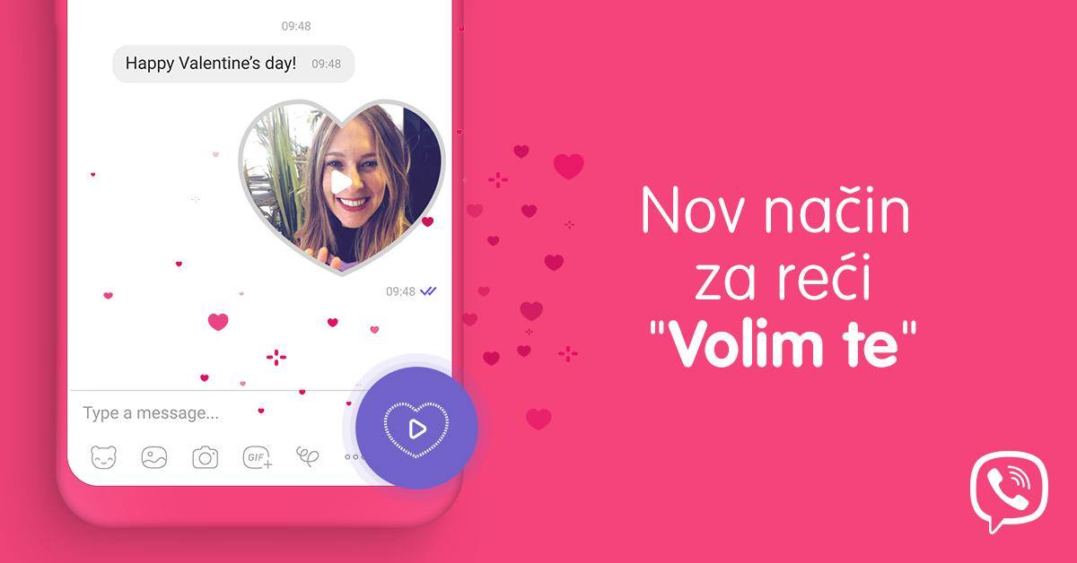 Viber vam ovog Valentinova predstavlja 'Volim te' video