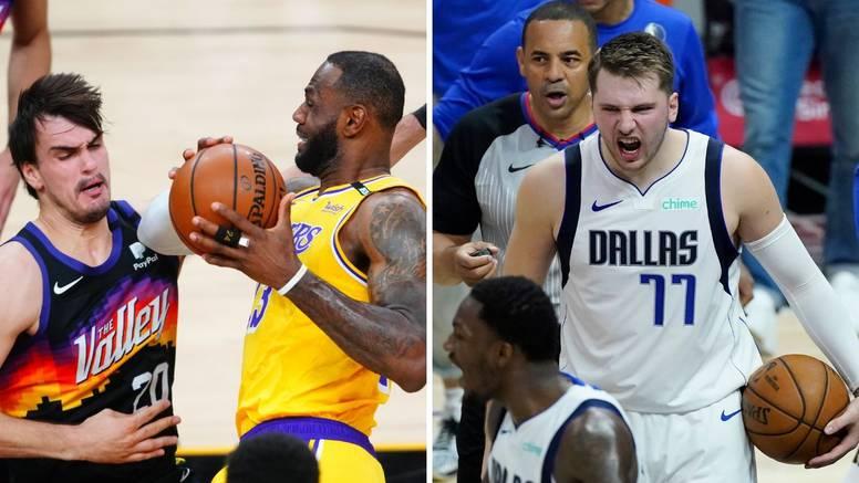 Lakersi se vratili, a Dončić uništava Clipperse. Šarić i Zubac jedva da su pogledali ka košu...
