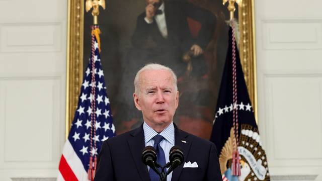 U.S. President Biden delivers remarks on the state of COVID-19 vaccinations, at the White House
