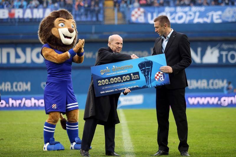 Dinamo za Vukovar: 'Modri' su dali 200.000 kn za Vodotoranj