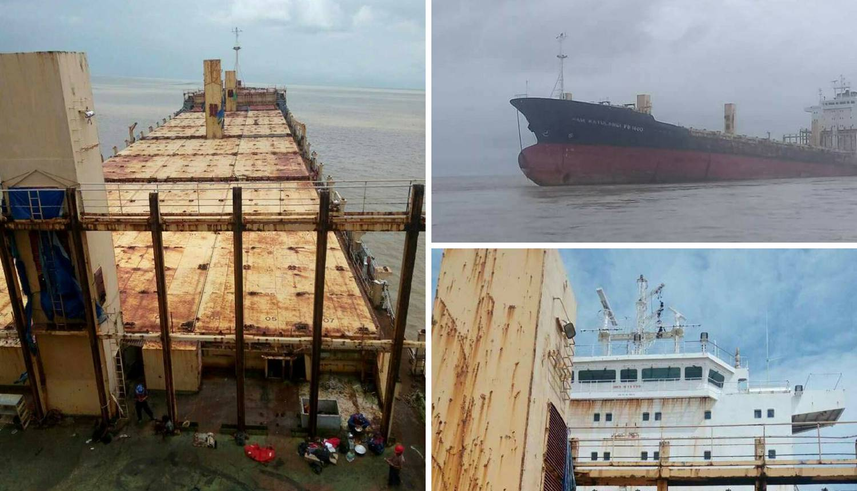 Prazan i hrđav: 'Brod duhova' se nasukao na obalu Mjanmara