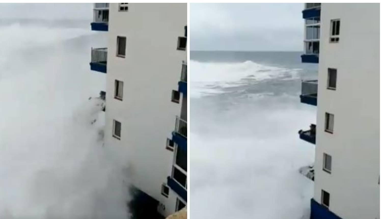 Nevjerojatne snimke: Valovi su uništili balkone, i to na 3. katu!
