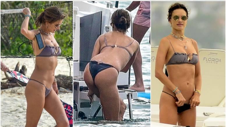 Vruće scene: Bivša manekenka 'u borbi' s bikinijem na plaži...