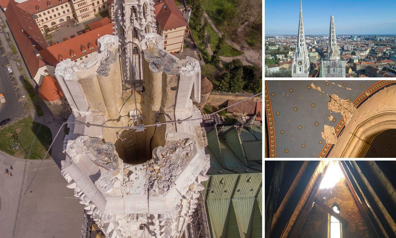 U utorak trebali rušiti toranj katedrale, ali puhao je vjetar