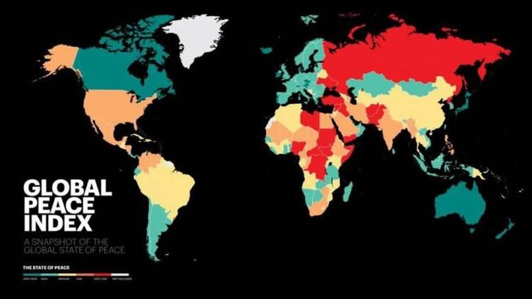 Island je najmirnija zemlja na svijetu, Hrvatska je 17. mjestu