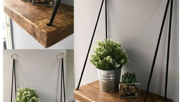 Lako je! Lebdeće police možete napraviti od drveta i konopa