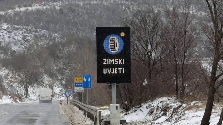 Snijeg povremeno pada u Lici, Gorskom kotaru i Slavoniji...