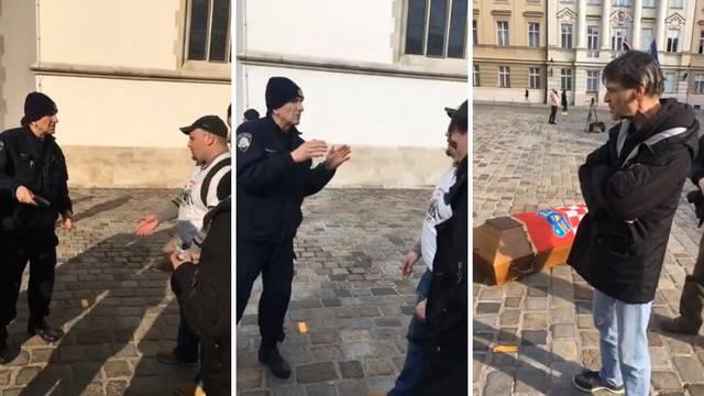 Josipa ispred Vlade zaustavila policija: Ne možete ući unutra
