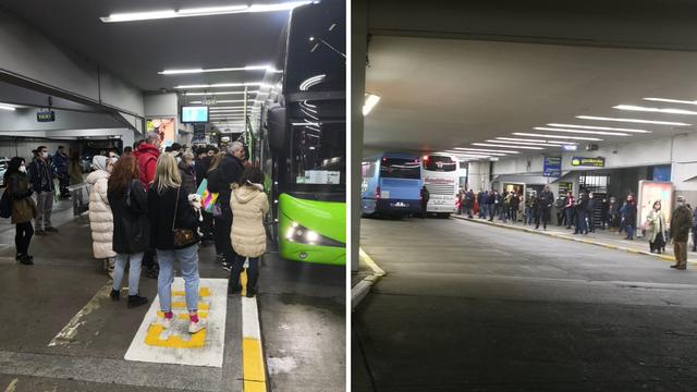Gužve na kolodvorima, busevi zatrpani paketima: 'Zbog mjera manje putuju, ali šalju pošiljke'