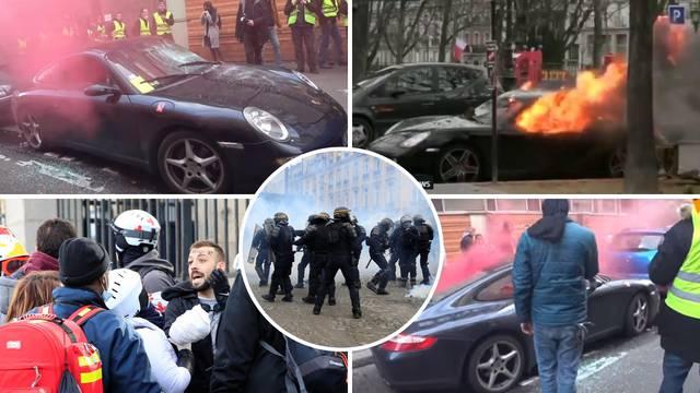 Gorjeli luksuzni automobili: Svi slikali dva Porschea u plamenu