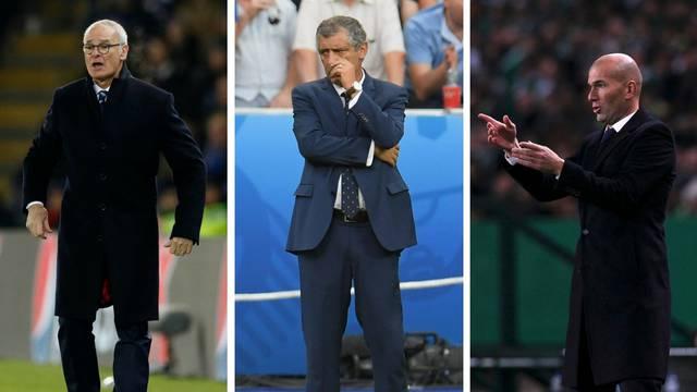 Finale izbora najboljeg: Ranieri, Santos i Zidane za naj trenera