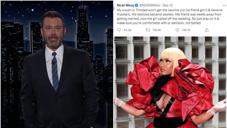 Fanovi Nicki Minaj sad su protiv cijepljenja, a Jimmy Kimmel želi intervju zbog 'oteknutih testisa'