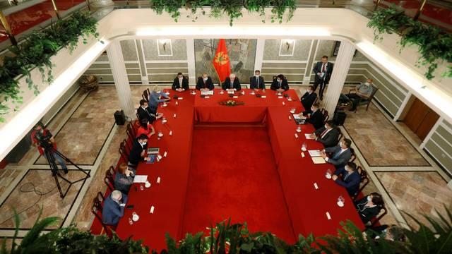 Montenegro's Prime Minister Dusko Markovic announcing that Montenegro is coronavirus-free country