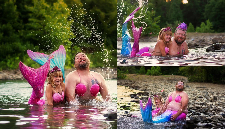 Ljubav tate i kćeri nema granica - za nju je rado postao i sirena!