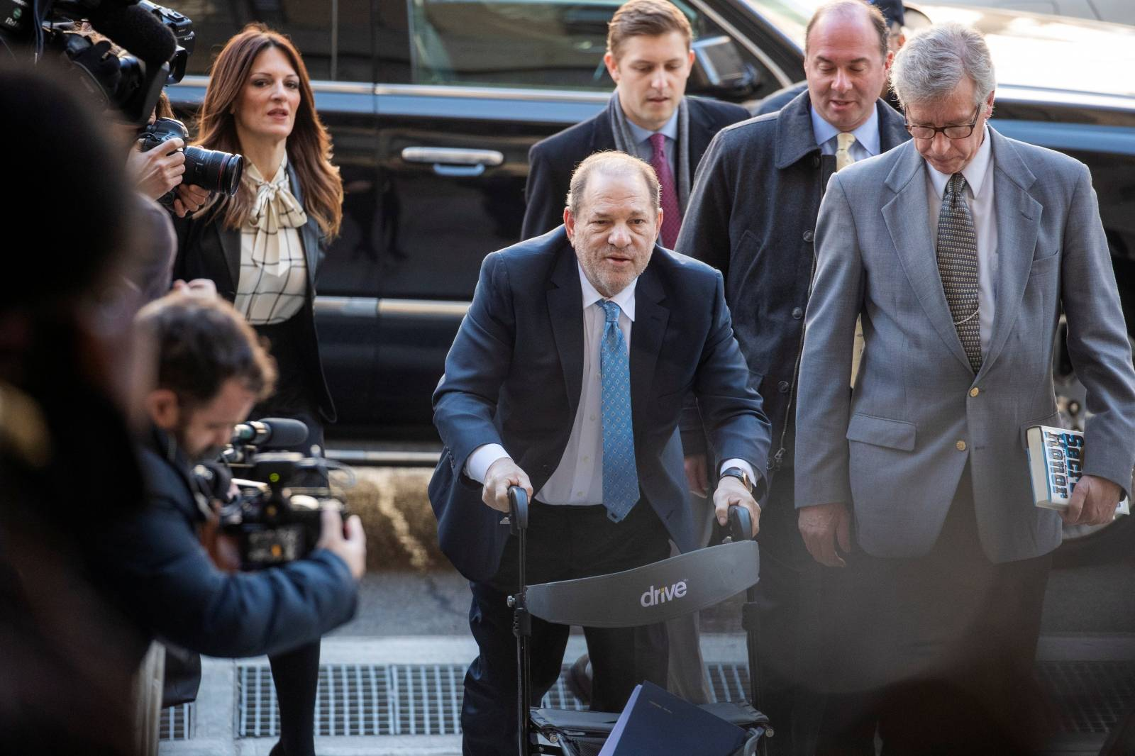 Harvey Weinstein arrives at New York Criminal Court for another day of jury deliberations in his sexual assault trial in the Manhattan borough of New York City, New York