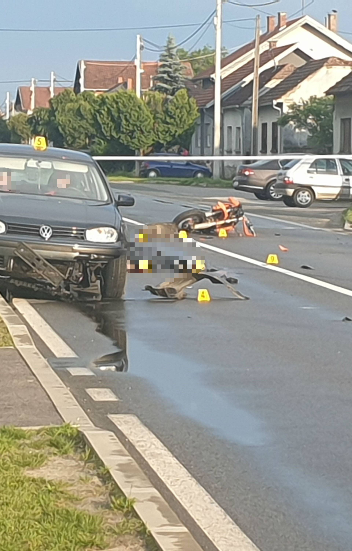Stravični detalji nesreće: Pao s motocikla pa ga pregazio auto