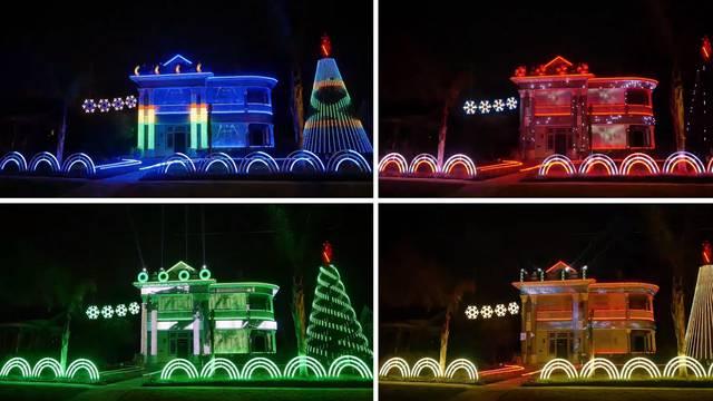 Ukrašena kuća za Božić