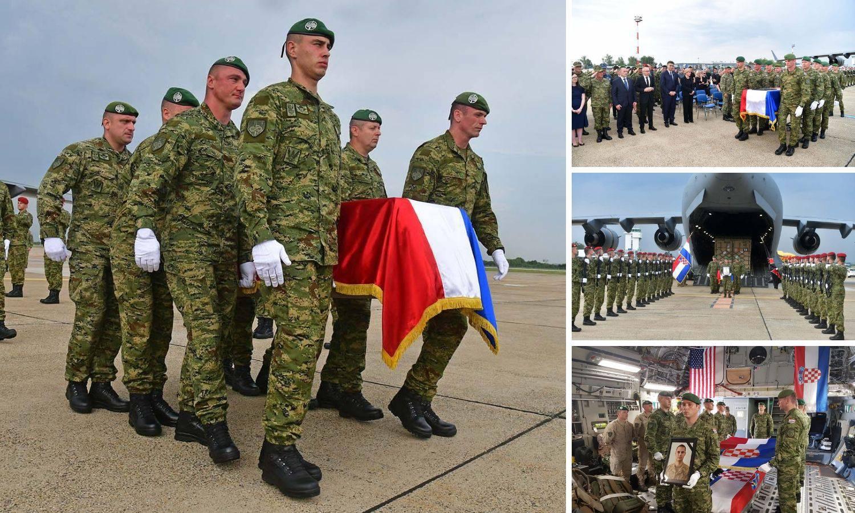 Tijelo poginulog vojnika Josipa Briškog (27) stiglo u Hrvatsku