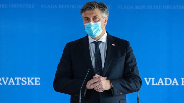 Zagreb: Izjava ze medije premijera Andreja Plenkovića