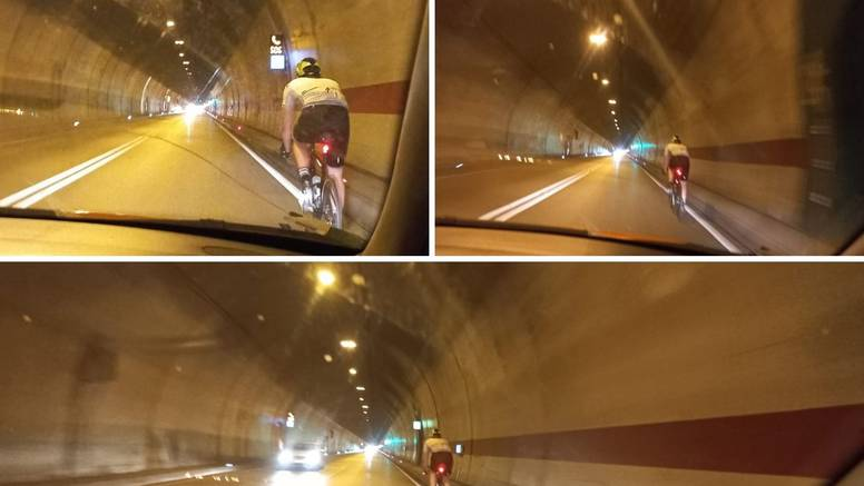 Biciklist u tunelu Sv. Ilija: 'Nije imao ni prednje svjetlo, stvorio čitavu kolonu  iza sebe, strašno'