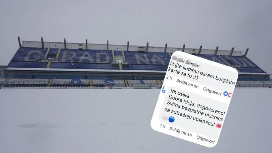 Osijek pozvao navijače: Dođite nam pomoći u čišćenju snijega