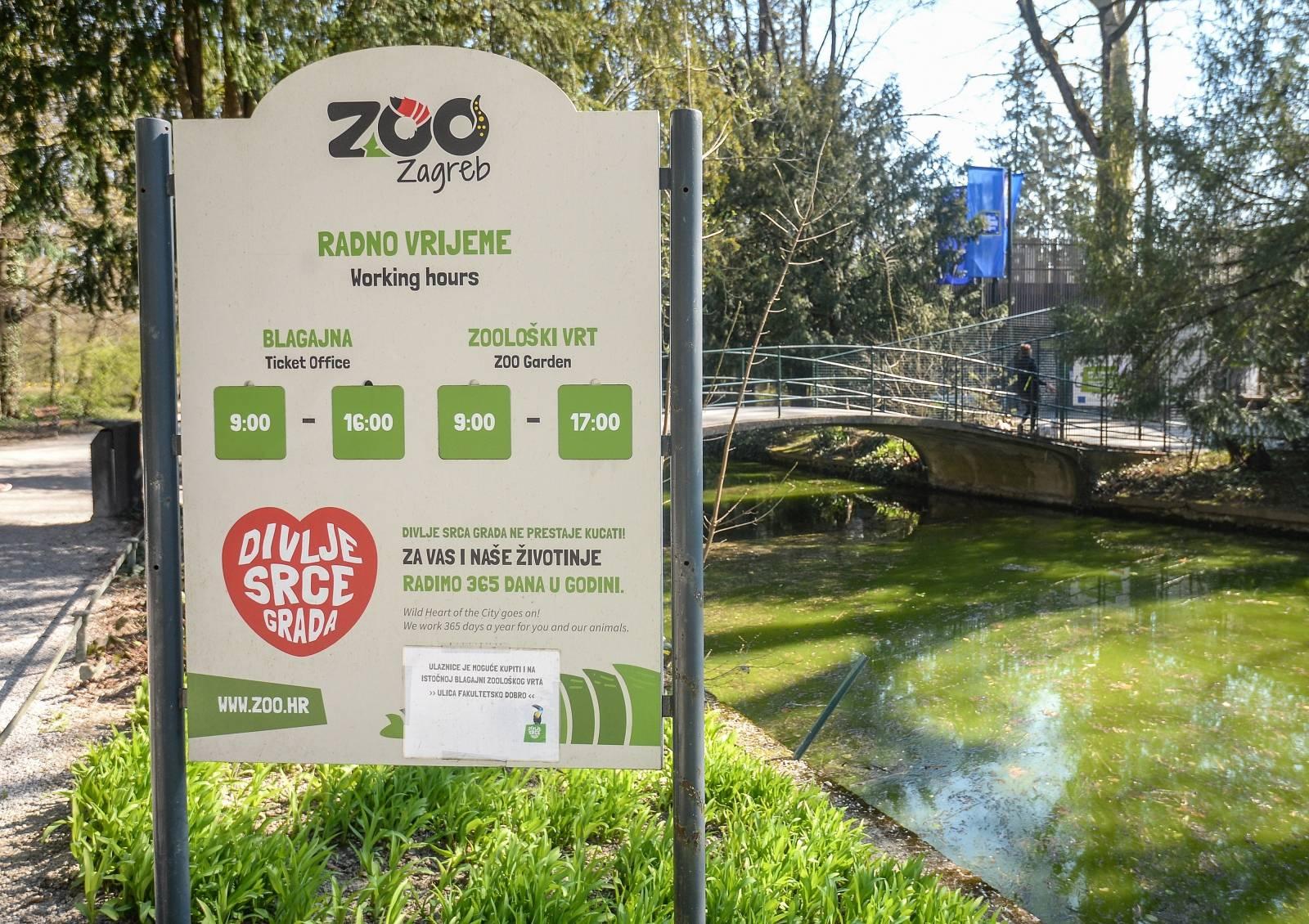 Zagrebački Zoološki vrt zatvorio je svoja vrata zbog koronavirusa