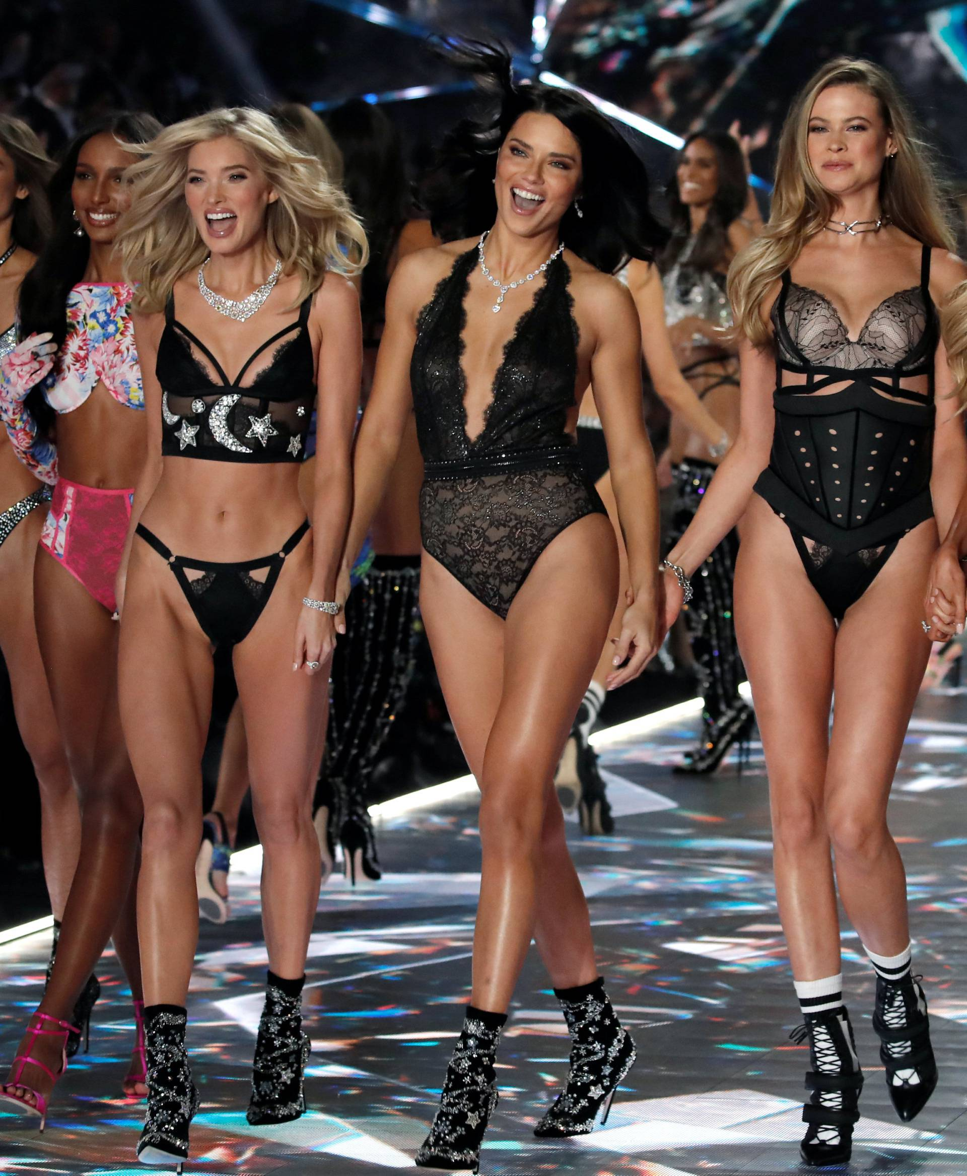 Model Adriana Lima and other models present creations during the 2018 Victoria's Secret Fashion Show in New York