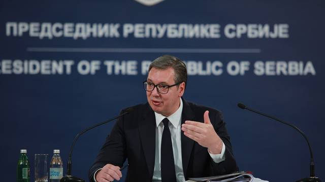 Press conference of Aleksandar Vucic, president of Republic of Serbia.Konferencija za medije Aleksandra Vucica, predsednika Republike Srbije.