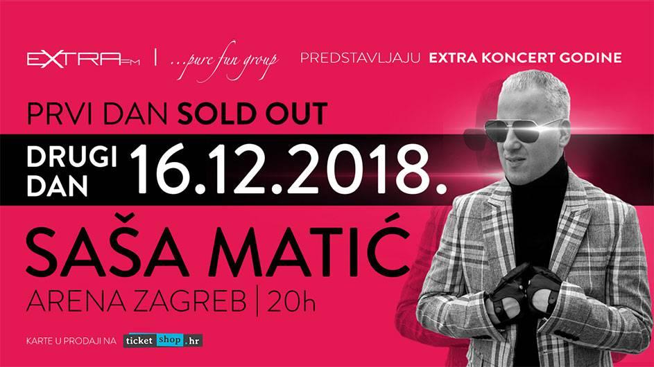 Saša Matić potvrdio održavanje drugog koncerta u Zagrebu